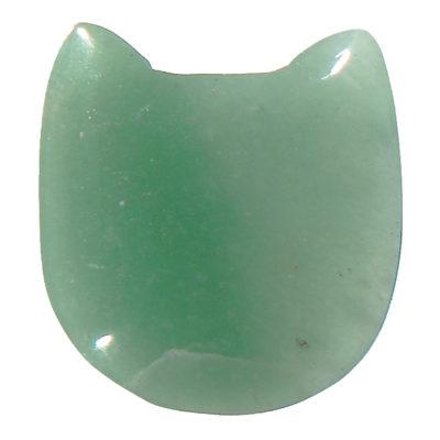 CATGQ - Green Aventurine Cat Face