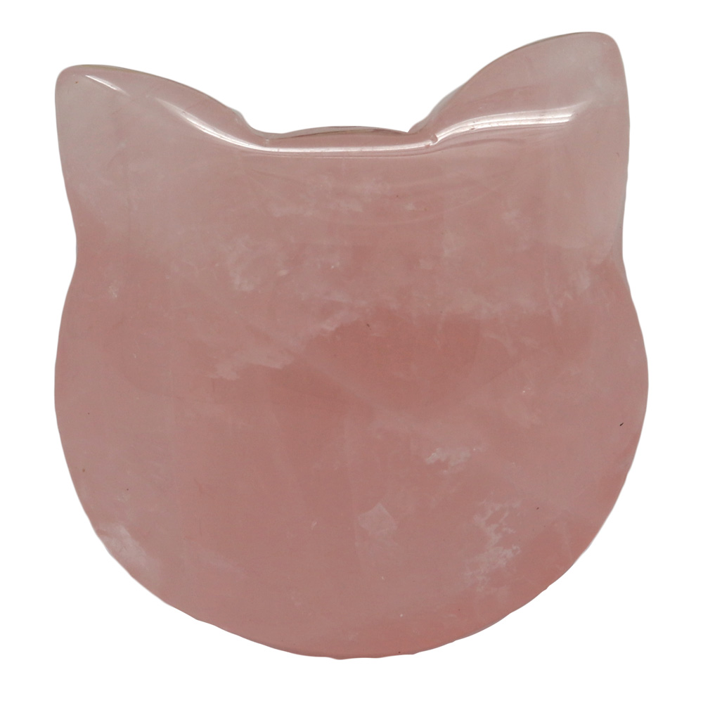 CATRQ - Rose Quartz Cat Face