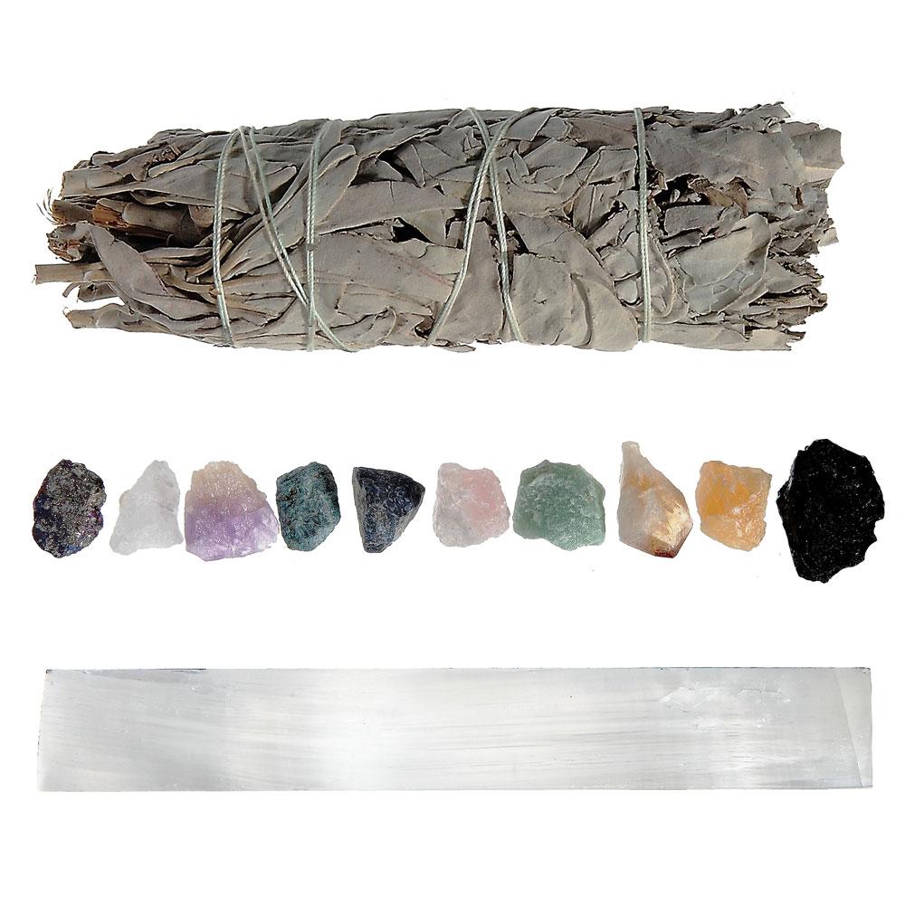 CKT4 - 10 Natural Stone Chakra Healing Bundle