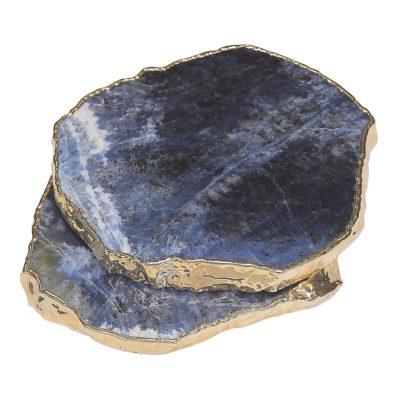 CSSDGP - Sodalite Coaster Set (Gold Plated)