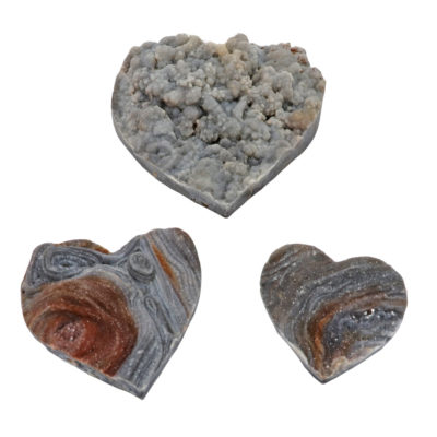 HDAFb - Agate Shell Druze Hearts