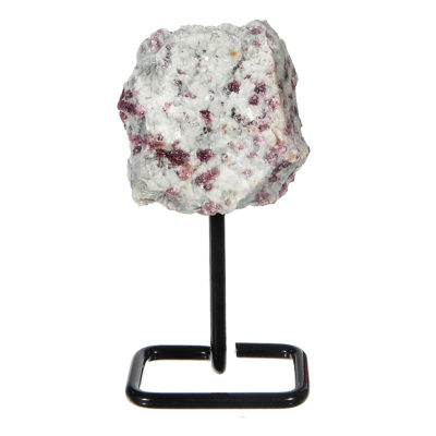 MMS203 - Small Pink Tourmaline on Metal Stand