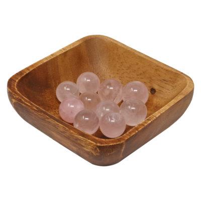 MS02 - Rose Quartz Mini Spheres (Pack of 10)
