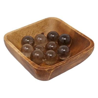 MS04 - Smoky Quartz Mini Spheres (Pack of 10)