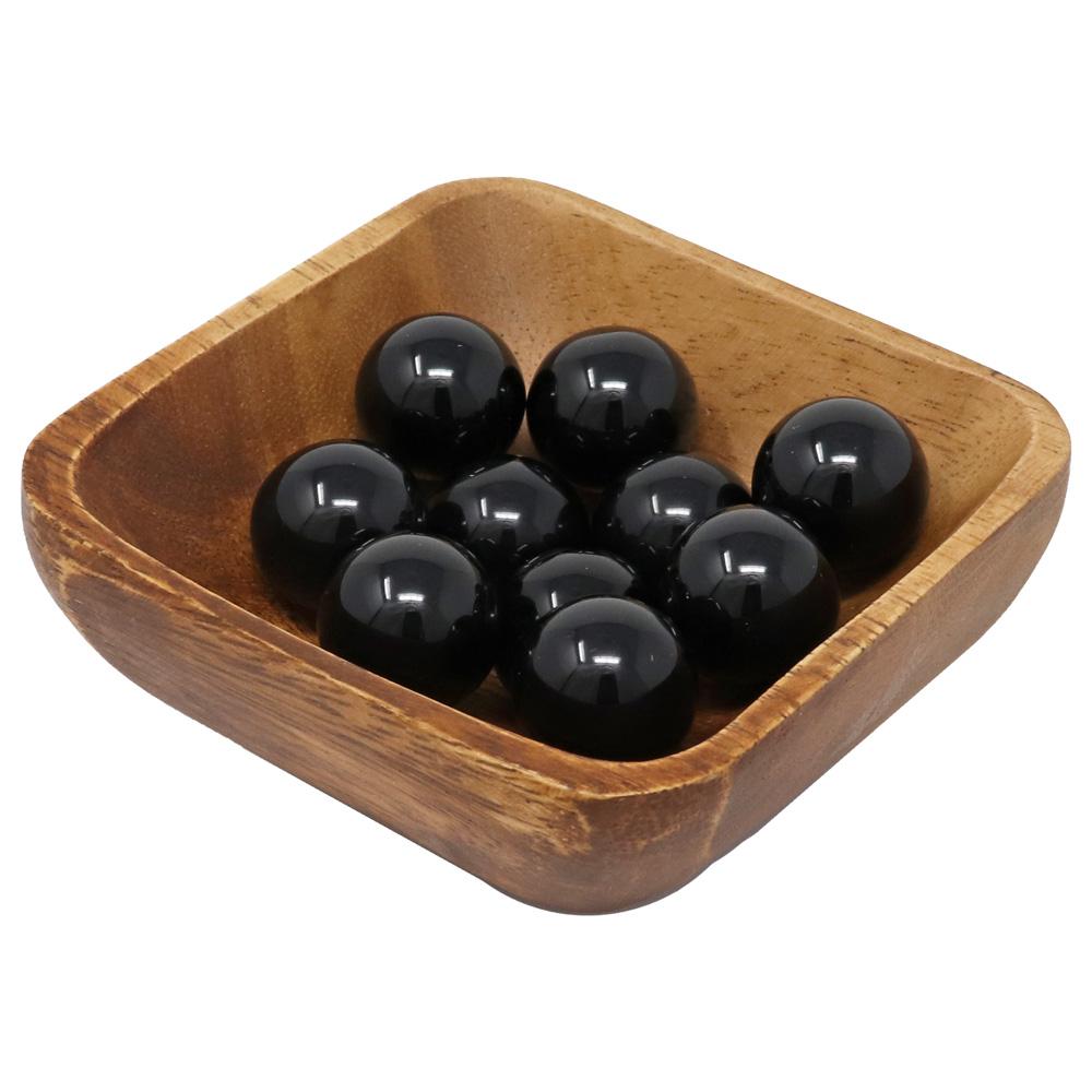 MS06 - Black Obsidian Mini Spheres (Pack of 10)