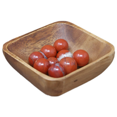 MS07 - Red Jasper Mini Spheres (Pack of 10)