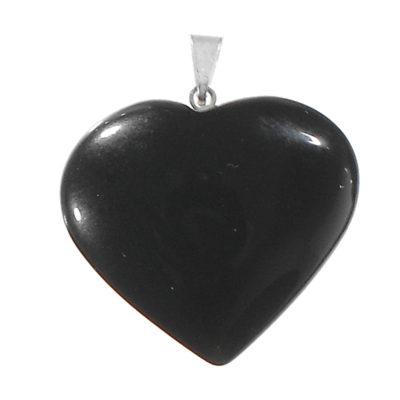 NHBO - Black Obsidian Heart Pendant
