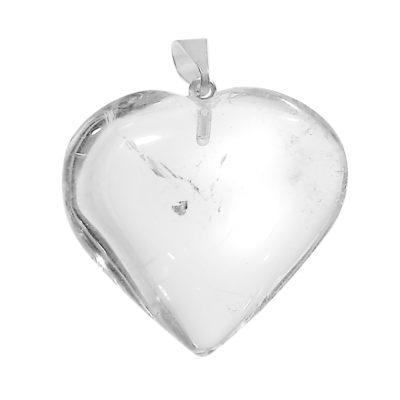 NHCQ - Clear Quartz Heart Pendant