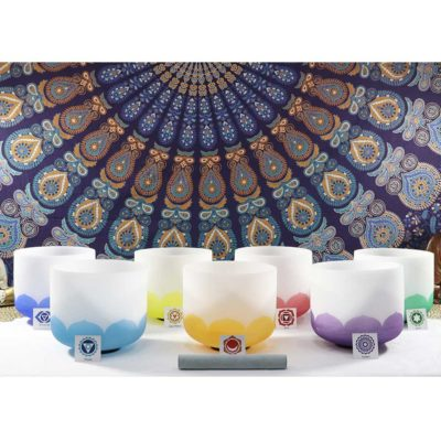 SBQSET1 - Color Chakra Crystal Singing Bowl (Set of 7)